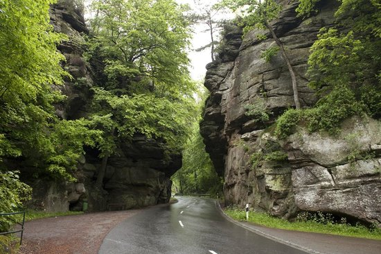 The view driving along the road photo de mullerthal trail mullerthal tripadvisor - Chambre d hote luxembourg petite suisse ...