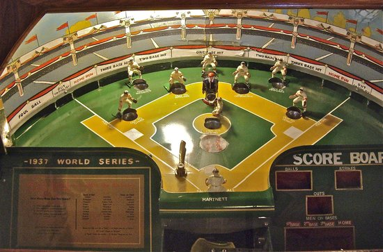 Marsh's Free Museum: An arcade baseball game, $1 to replay the '37 World Series