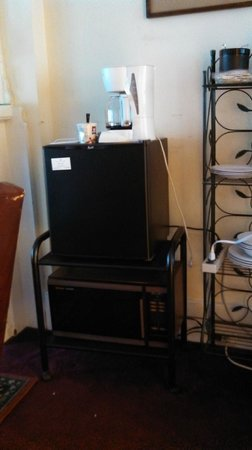 Stay the Night Bed & Breakfast: Refrigerator and microwave in Cecilia Suite