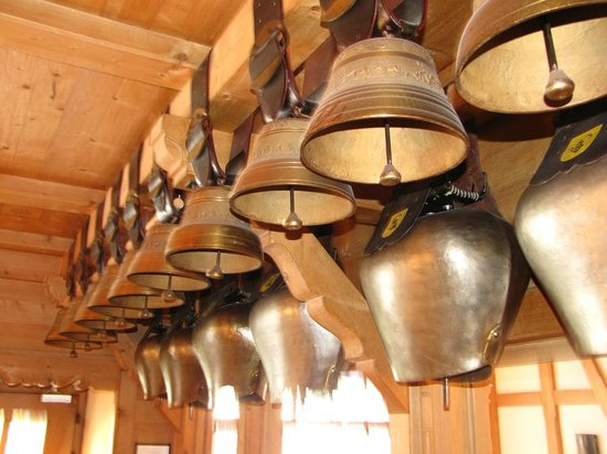 Restaurant Aarburg: Fine collection of bells forms part of the decor