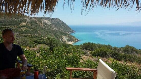 Katelios, Grecja: Sesto hill top bar at Koroni beach unforgettable