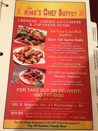 king s chef buffet warrensburg menu prices restaurant reviews rh tripadvisor com