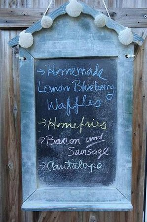 Green Mountain Inn: Breakfast Menu Blackboard