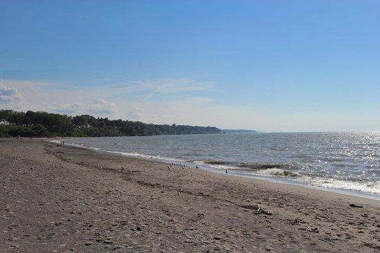 Conneaut Township Park: The shoreline at Conneaut Township Park Beach