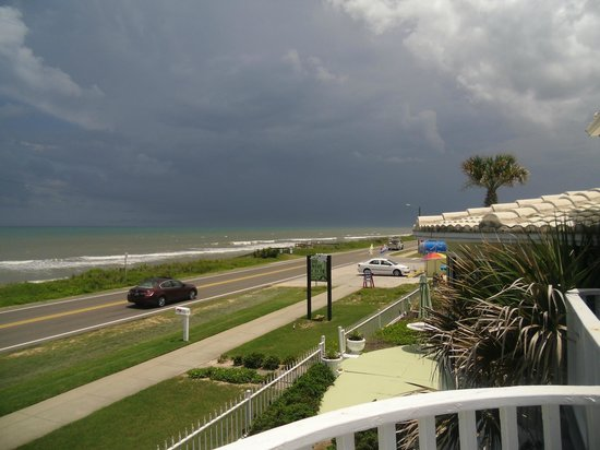The White Orchid Inn and Spa: Another summer in Florida fact, afternoon thunderstorm rolling in.