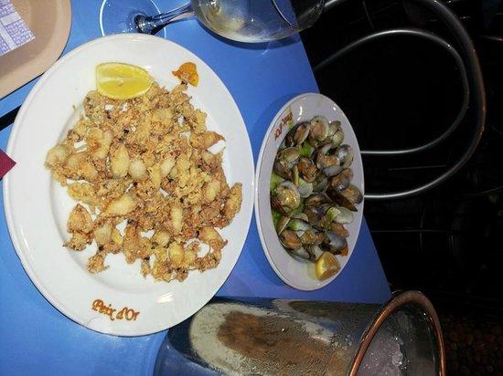 Peix d'or : frittura di calamari