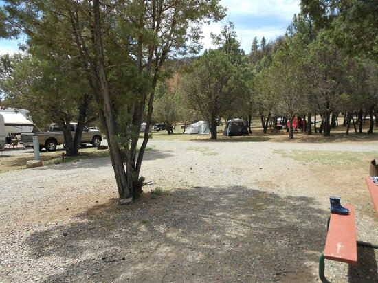 Bonito Hollow RV Park & Campground: Tent site view from Trailer Site