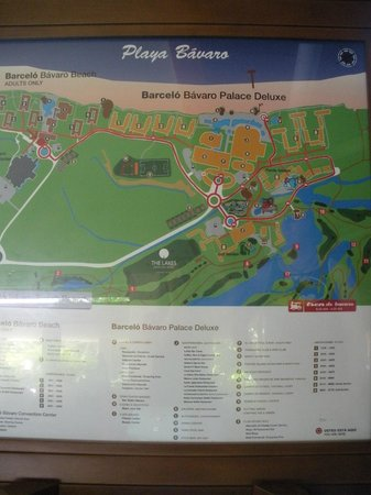 Barcelo Bavaro Beach S Only Map Of The Hotel