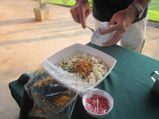 La Anita Rainforest Ranch: And now heart of palm ceviche