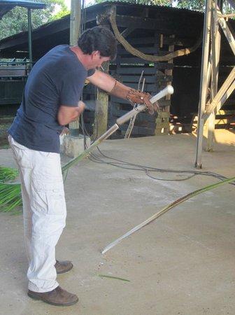 La Anita Rainforest Ranch: Pablo harvesting heart of palm