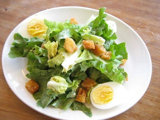 Two Amys: Escarole with hard boiled eggs - half portion