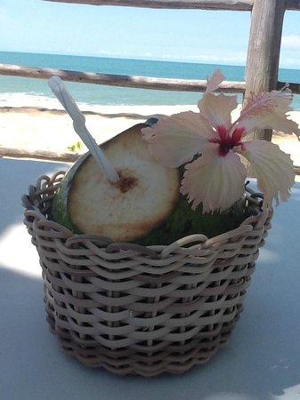 Pousada Clube de Mar: agua de coco na praia