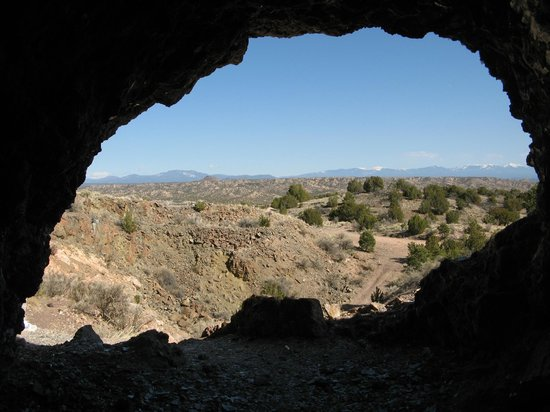 Ojo Caliente Mineral Springs Resort and Spa: Looking out of the Mica Mine - Mountains in the Distance