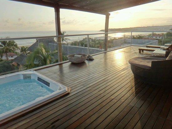 Hotel Aqua Luna: Rooftop terrace