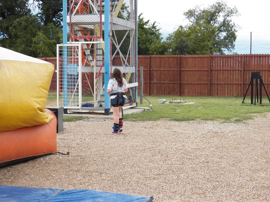 Zero Gravity Thrill Amusement Park: Here we go bungee jumping!