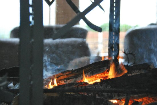 Talkeetna Alaskan Lodge : Fireplace