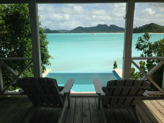 Cocobay Resort: our porch/ plunge pool view