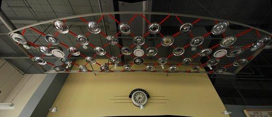 America On Wheels Museum: Hub Cap Cafe Ceiling