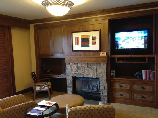 Four Seasons Resort and Residences Jackson Hole: TV and Fireplace - Nice Room!