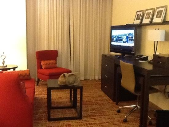Courtyard Fort Worth Downtown/Blackstone: our upgarded room...it pays tobe an elite member and complain.