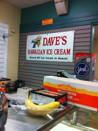 Kamoi Snack-n-Go: Kamoi serves Dave's Ice Cream