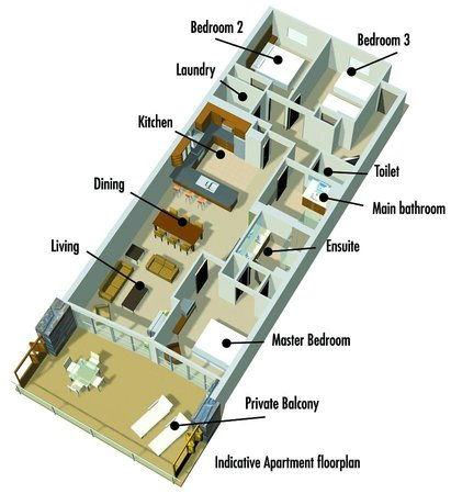 Lakeside Apartments: Room Layout - Deluxe and Superior