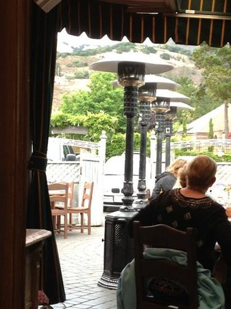 Cafe Rustica: view of the hills from the veranda. very pleasant.
