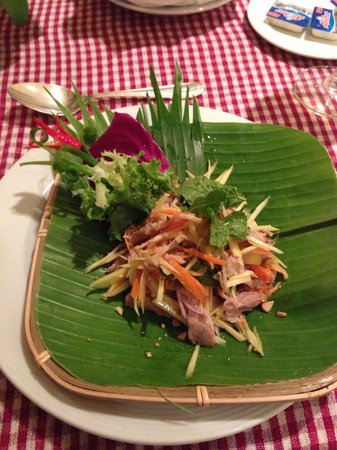 InterContinental Phnom Penh: Roasted Duck Salad with Green Mango