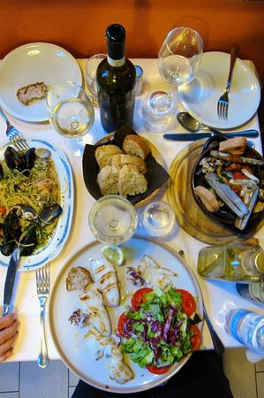dinner for three at Il Grottino