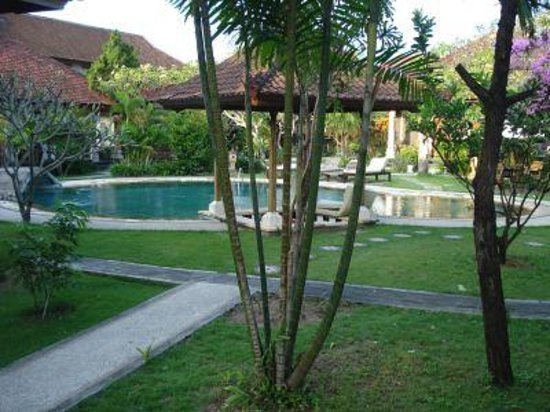 Sukun Bali Cottages: Pool and the garden