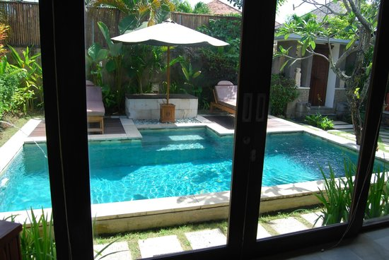 The Sanyas Suite Seminyak: The view from the bedroom