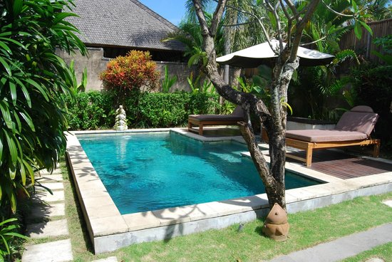 The Sanyas Suite Seminyak: Private pool within the villa