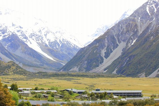 Mackenzie District, New Zealand: Mt. Cook village.
