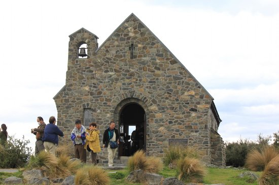 Mackenzie District, New Zealand: Church of the Good Shepherd, on the banks of Lake Tekapo.