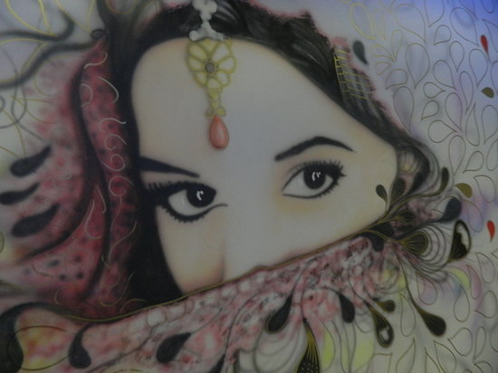 Cottage Balti Restaurant : wall drawing