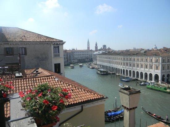 Foscari Palace: le grand canal vue de la terrasse de l'hôtel