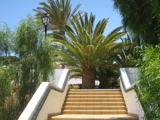TUI MAGIC LIFE Fuerteventura: Stairs to Bar Areas / Main Dining Hall from the pool