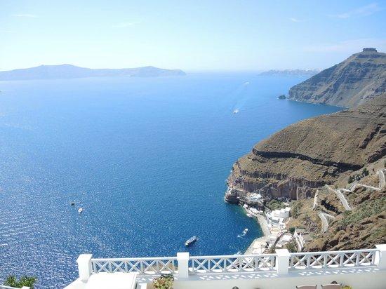 Archontiko Santorini : vue de la terrasse
