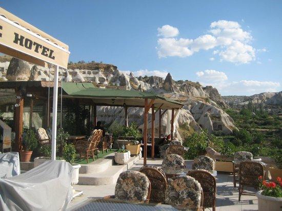 SOS Cave Hotel Verandah