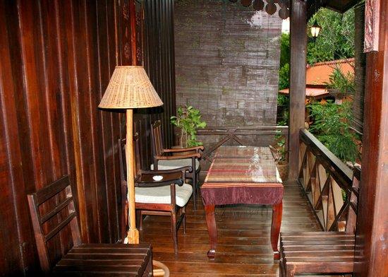 Auberge Sala Inpeng (Mekong Riverside Inn): Verandah