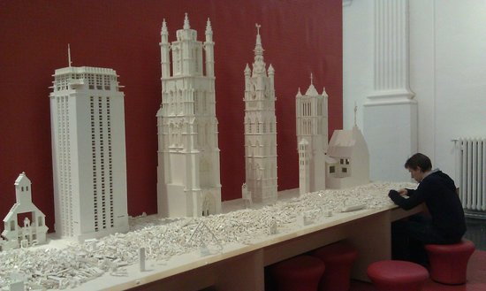 STAM Ghent City Museum: Lego models of the 4 towers of Ghent