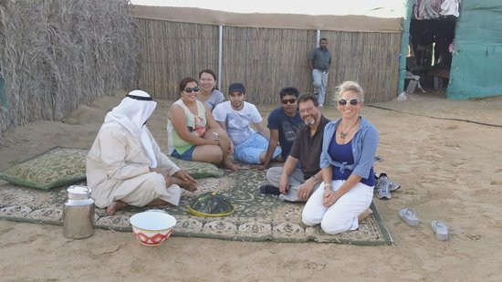 Tilal Liwa Hotel: At the camel farm with the owner