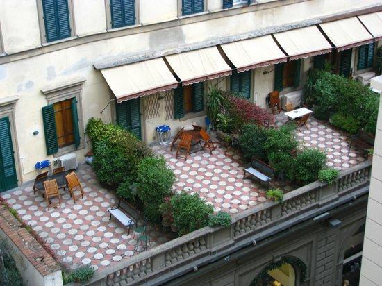 Hotel Savoy: a backyard - view from my room
