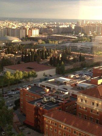 Gran Hotel Princesa Sofia: Nou Camp stadium in the distance