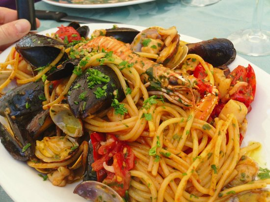 Tuoro sul Trasimeno, Italy: spaghetti allo scoglio da sogno