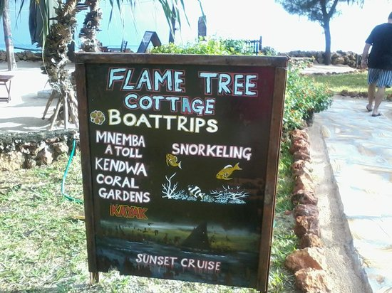 Flame Tree Cottages: Flame Tree cottage Additional services
