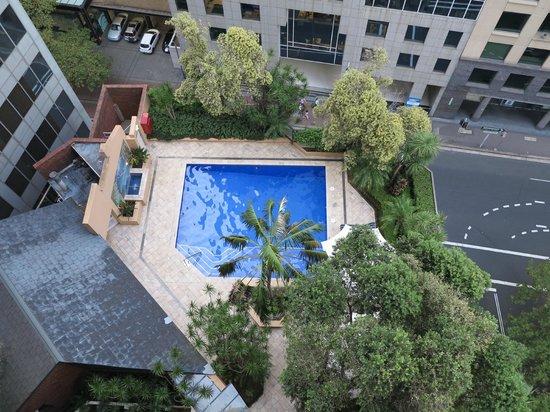 The York by Swiss-Belhotel: Pool from the balcony