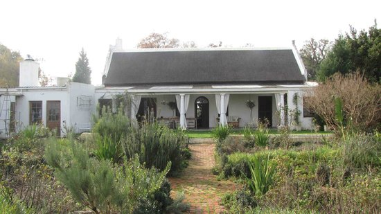 Hawksmoor House at Matjieskuil Farm: View from the pool onto the Guest House