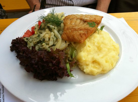 Marinehof : Delicious fish with mashed potatoes - wholesome meal