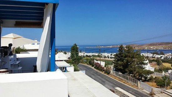 Paros Palace: View from breakfast area